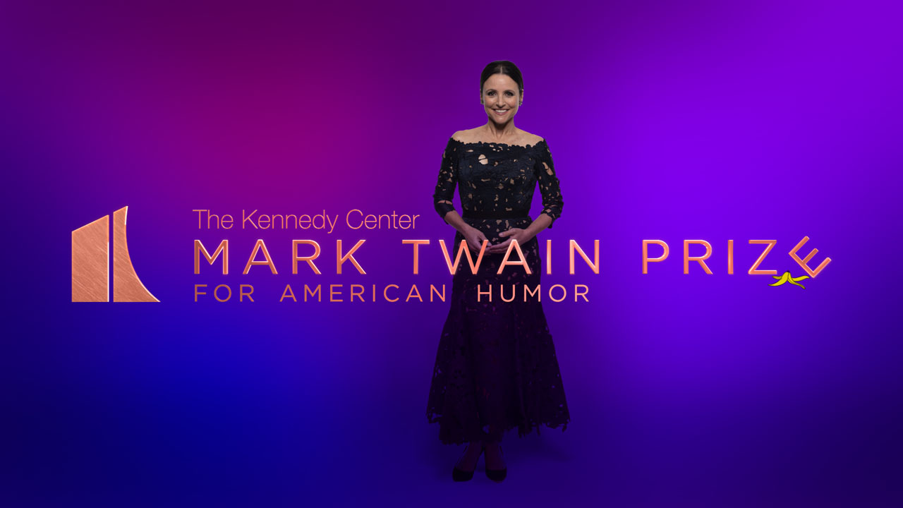 Mark Twain Prize - Logo  with Julia Louis-Dreyfus