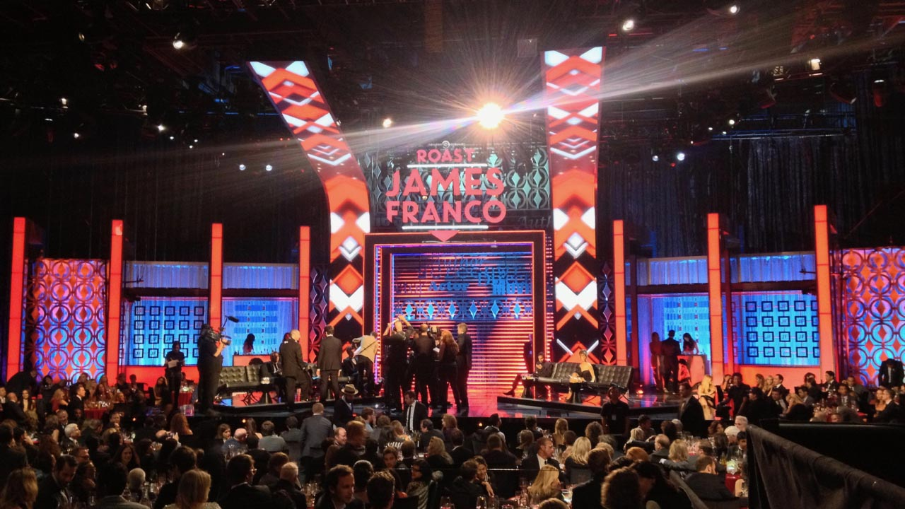 Comedy Central Roast of James Franco - Screens Design
